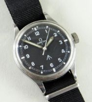 OMEGA MILITARY ISSUE RAF PILOT'S STAINLESS STEEL WRISTWATCH, c.1953, ref. 2777-1 SC, 17J cal. 283