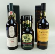 THREE ISLAY SINGLE MALT WHISKY EXPRESSIONS comprising Lagavulin aged 16 years scotch whisky, 43%
