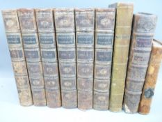 ANTIQUARIAN BOOKS (9) - titles include 'Plutarch's Lives' 6 volumes translated from the original
