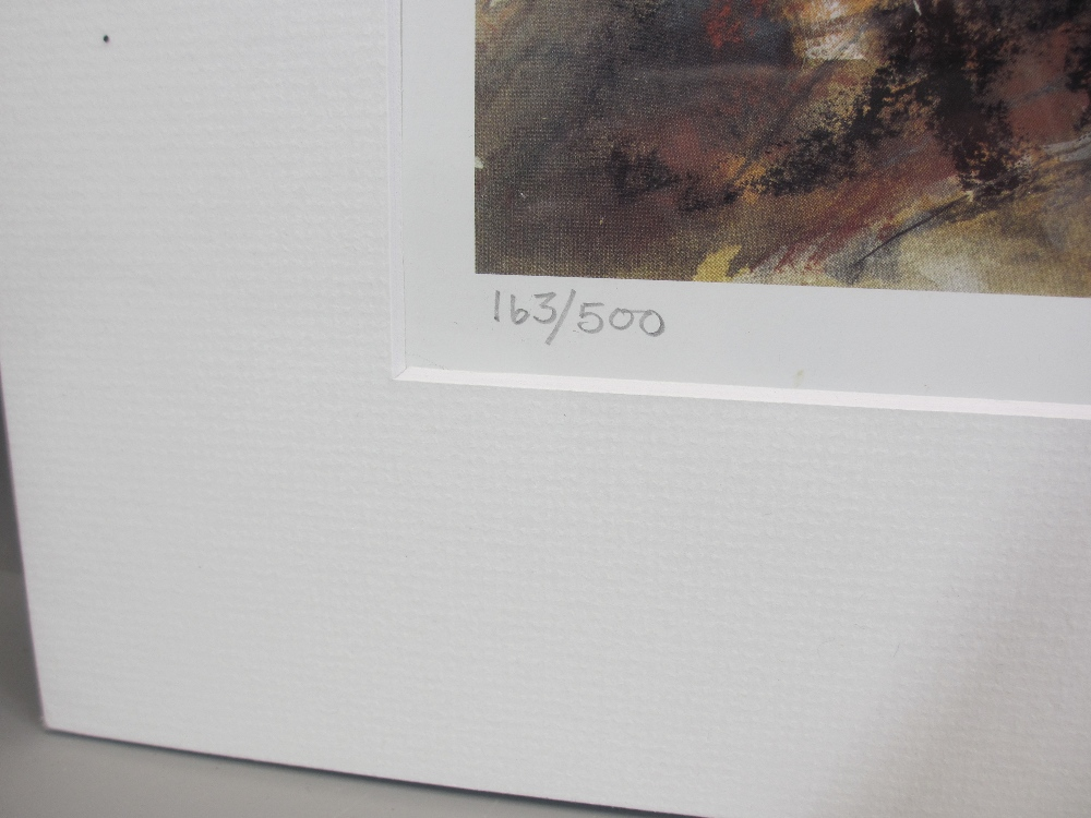 WILLIAM SELWYN limited edition print 163/500 - Snowdonia, signed in pencil, mounted but unframed, 43 - Image 3 of 3