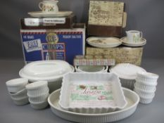 OVEN & TABLEWARE - boxed St Michael and a quantity of plain white Johnson Brothers, ETC