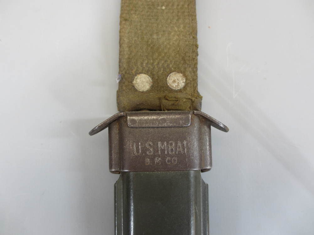 BAYONET COLLECTION (6), two leather belts and a vintage leather and wooden holster (part missing), - Image 4 of 5