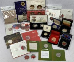 ROYAL MINT SILVER PROOF & OTHER FIRST/SECOND WORLD WAR & RELATED COIN COLLECTION - 20 items to