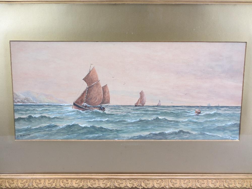 MARINE WATERCOLOURS, a collection - PARISH, BARNES, GRAHAM, ETC, 23 x 51cms the largest - Image 2 of 4