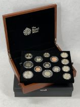 ROYAL MINT 2018 UNITED KINGDOM PREMIUM PROOF COIN SET COMPLETE - No 0107 from a limited edition of