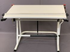 ARCHITECT/PLANNERS, ETC, ADJUSTABLE DRAWING/WORK DESK, adjustable height, 77cms the lowest, 1m W, 1m