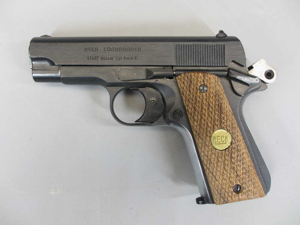 RECK COMMANDER 8MM AUTOMATIC BLANK FIRING STARTER PISTOL (1911 compact type), made in Western - Image 2 of 3