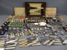 CASED & LOOSE CUTLERY - a good quantity