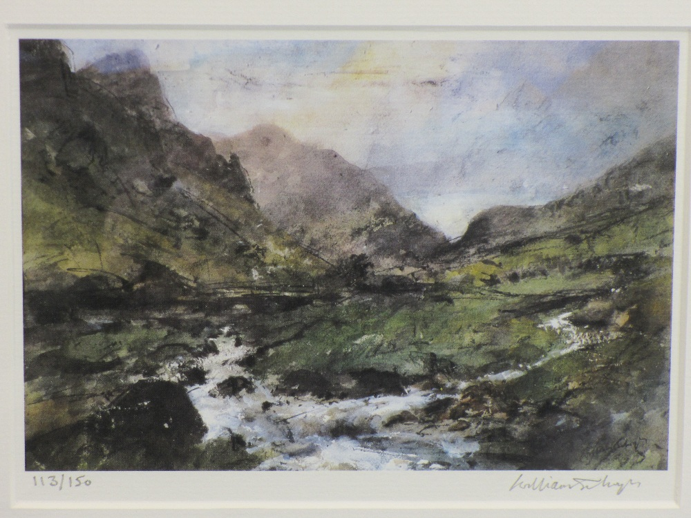 WILLIAM SELWYN limited edition prints (2) 218/300 - farmer and tractor, 33.5 x 42.5 and Snowdonia - Image 3 of 3