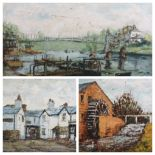 ALAN MACKAY - Chester river scene with suspension bridge, signed and dated '74 together with a