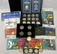 ROYAL MINT, WESTMINSTER ROYAL AIR FORCE and Winston Churchill coin collection including a cased
