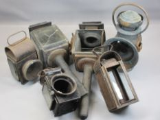VINTAGE LAMPS to including a pair of coaching type, James Neil & Sons Raydyot handheld lamp, ETC (