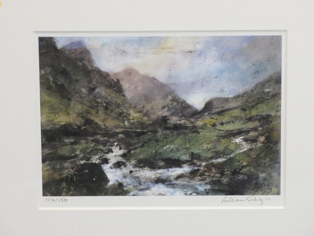 WILLIAM SELWYN limited edition prints (2) 114/150 and 90/150 - Snowdonia and a leafy lane scene, - Image 2 of 3