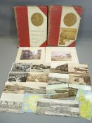 VINTAGE POSTCARDS/PHOTOGRAPHIC COLLECTION - in two albums dated 1906 cataloguing a trip by Sir