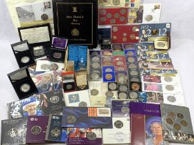 ROYALTY COMMEMORATIVE COIN COLLECTION to include approximately 80 commemorative crowns, Queen