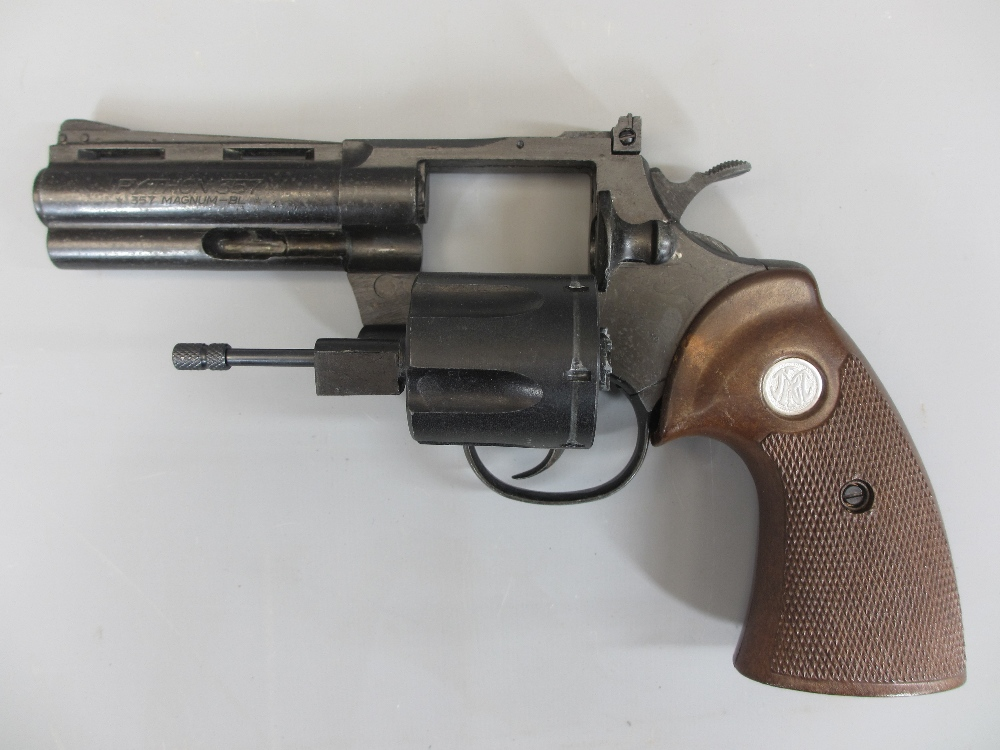 AMENDMENT - COLT REPLICA NON-FIRING PYTHON 357 MAGNUM REVOLVER, boxed, MGC model Gun Co made - Image 2 of 3