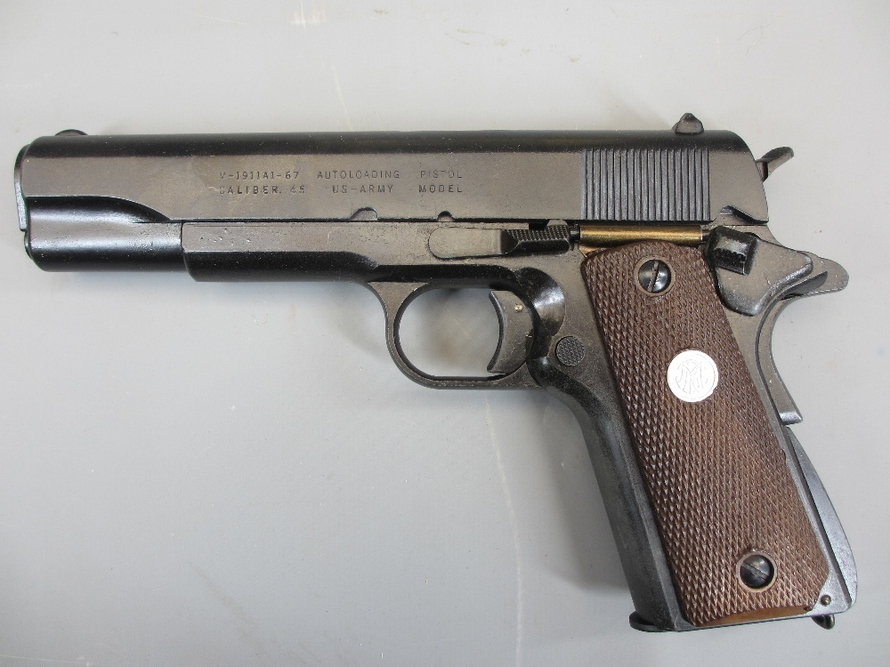 REPLICA US ARMY 45 AUTOMATIC PISTOL by Replica Models, boxed, M-1911A1-67, non firing in - Image 2 of 3