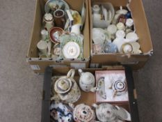 PARAGON ATHENA, MINTON CONSORT, ROYAL CROWN DERBY and other teaware, cabinet porcelain with a