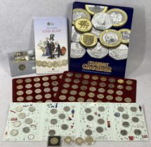 £2 COIN COLLECTION (84), Royal Mint Great British Coin Hunt items and a Change Checker album