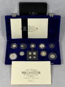 ROYAL MINT UNITED KINGDOM MILLENNIUM SILVER COLLECTION - No 04800 from a limited edition of 15000,