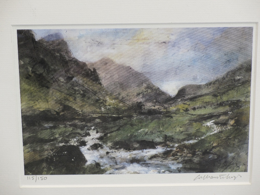 WILLIAM SELWYN limited edition prints (2) 115/150 and 89/150 - Snowdonia and a leafy lane scene, - Image 2 of 3