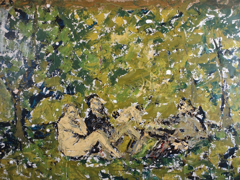 ALAN MACKAY impressionist painting after Edouard Manet's 'The luncheon on the grass' together with - Image 2 of 3