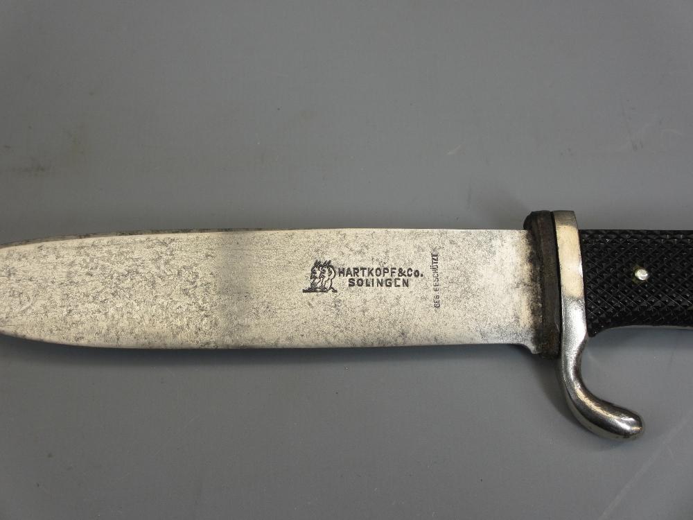 WW2 GERMAN THIRD REICH HITLER YOUTH DAGGER with original metal scabbard, Blut Und Ehre (Blood and - Image 4 of 4