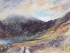 WILLIAM SELWYN limited edition print 163/500 - Snowdonia, signed in pencil, mounted but unframed, 43