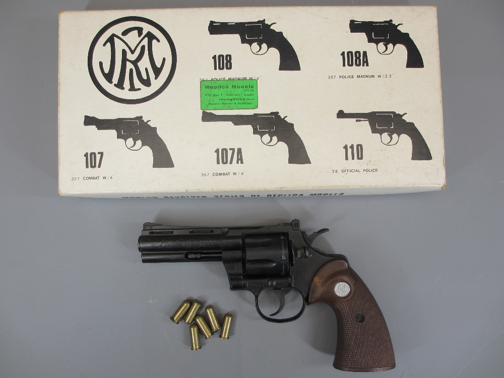 AMENDMENT - COLT REPLICA NON-FIRING PYTHON 357 MAGNUM REVOLVER, boxed, MGC model Gun Co made