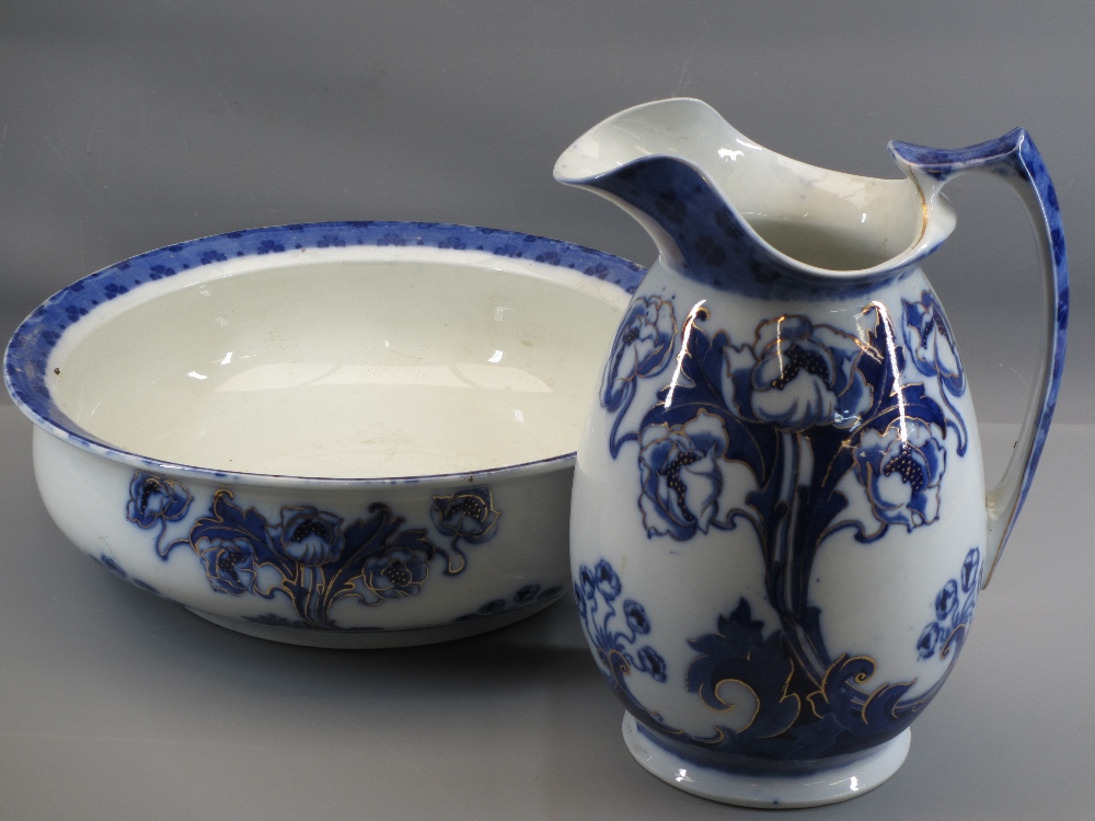VICTORIAN JUG & BASIN SETS, a pair of Majolica type vases, 31cms tall, ETC - Image 4 of 4