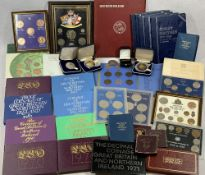 VINTAGE & LATER PROOF SETS & COIN COLLECTION to include Great Britain coin album, Great Britain