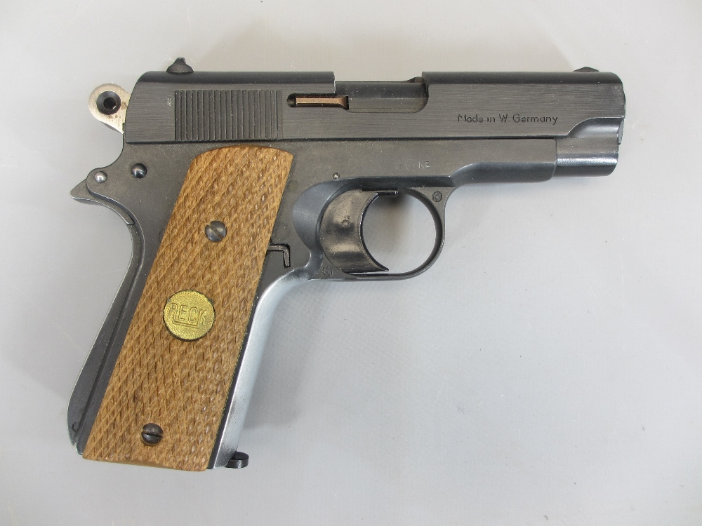RECK COMMANDER 8MM AUTOMATIC BLANK FIRING STARTER PISTOL (1911 compact type), made in Western - Image 3 of 3