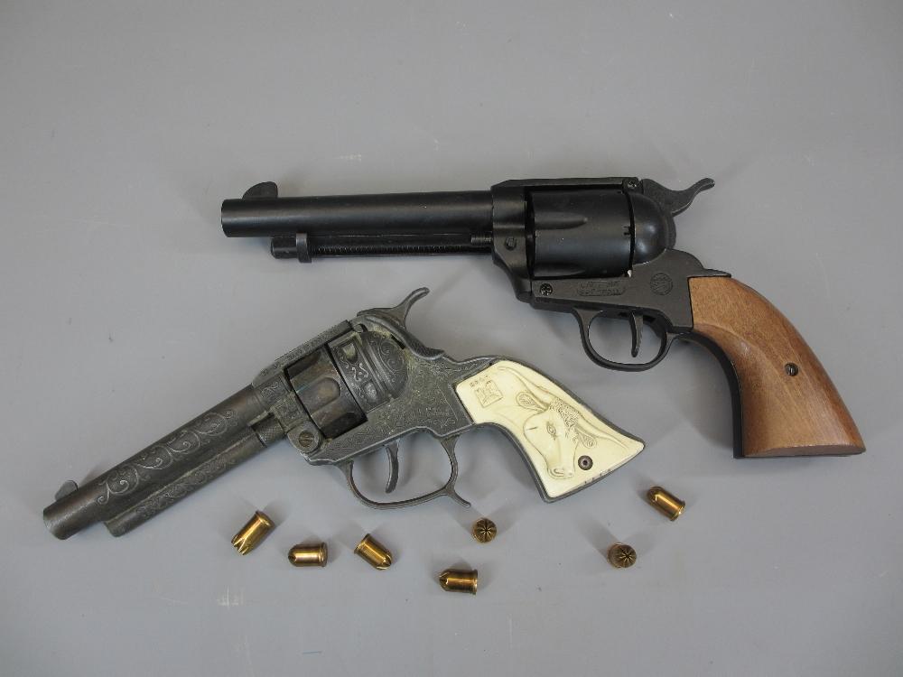REPLICA REVOLVERS (2) to include a Webley ME Ranger 9mm single Action 6 shot blank firing revolver