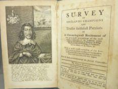 JOSIAH RICRAFT 'A SURVEY OF ENGLAND'S CHAMPIONS & TRUTHS FAITHFUL PATRIOTS', circa 1820, facsimile