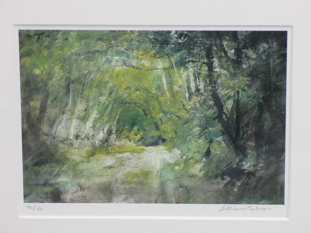WILLIAM SELWYN limited edition prints (2) 114/150 and 90/150 - Snowdonia and a leafy lane scene, - Image 3 of 3