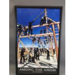 KEITH BOWEN framed poster - 'Amongst the Amish', 70 x 43cms