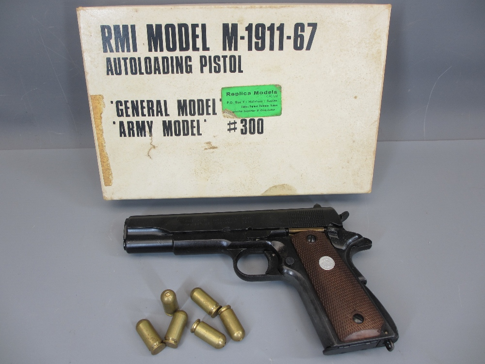 REPLICA US ARMY 45 AUTOMATIC PISTOL by Replica Models, boxed, M-1911A1-67, non firing in