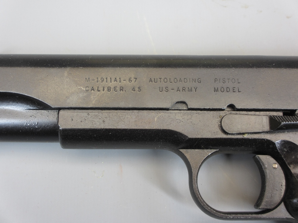 REPLICA US ARMY 45 AUTOMATIC PISTOL by Replica Models, boxed, M-1911A1-67, non firing in - Image 3 of 3