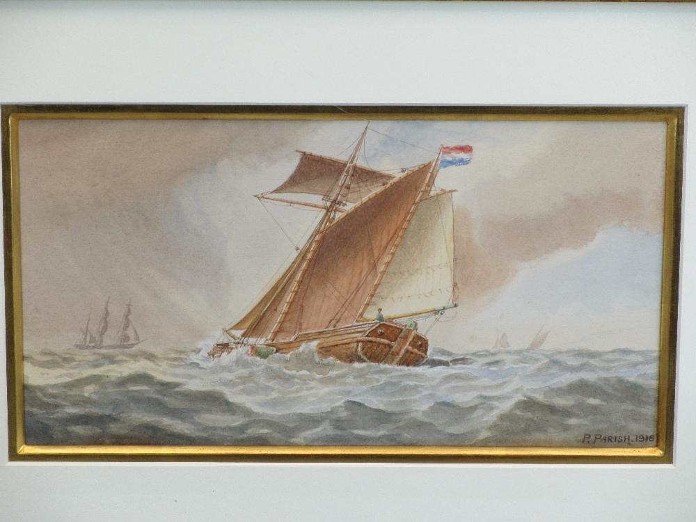 MARINE WATERCOLOURS, a collection - PARISH, BARNES, GRAHAM, ETC, 23 x 51cms the largest - Image 3 of 4