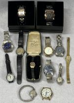 WRISTWATCHES - LADY'S & GENT'S a mixed collection to include a vintage J W Benson, London nickel