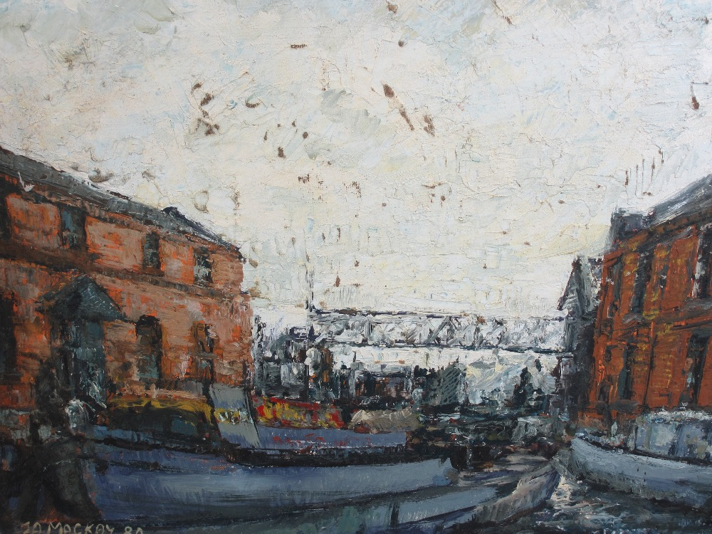 ALAN MACKAY known as L S LOWRY of Merseyside (1943 - 2008) - acrylic on board - a pair of Albert - Image 3 of 3