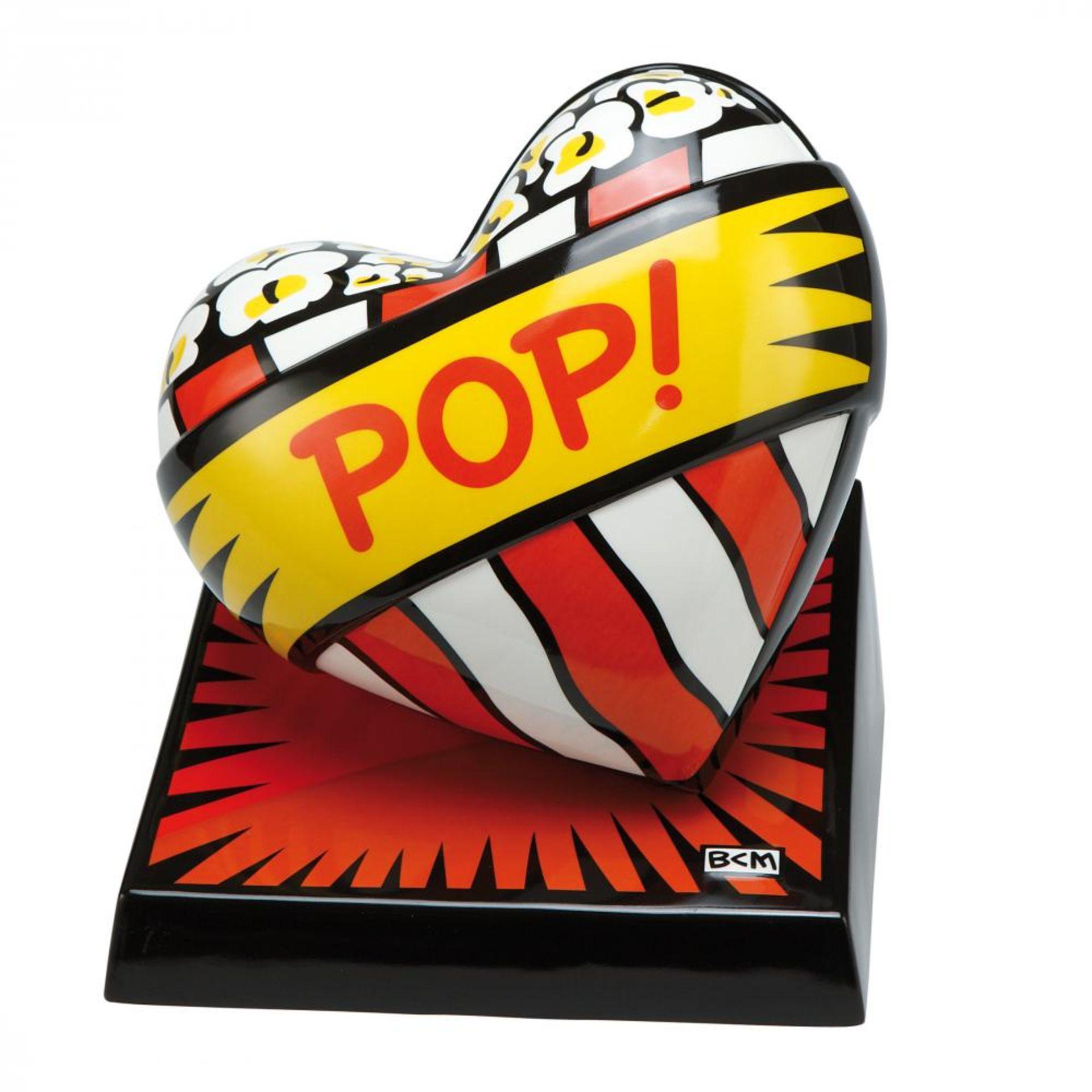 Burton Morris (*1964, Pittsburgh), US-Amerikanischer Künstler der POP-Art. Porzellanherz POP!.