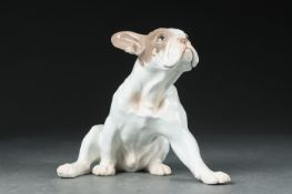 "Dahl Jensen for Bing & Grøndahl. Porzellanfigur. Französische Bulldogge sog. ""Bully"", nr. 2000. II."