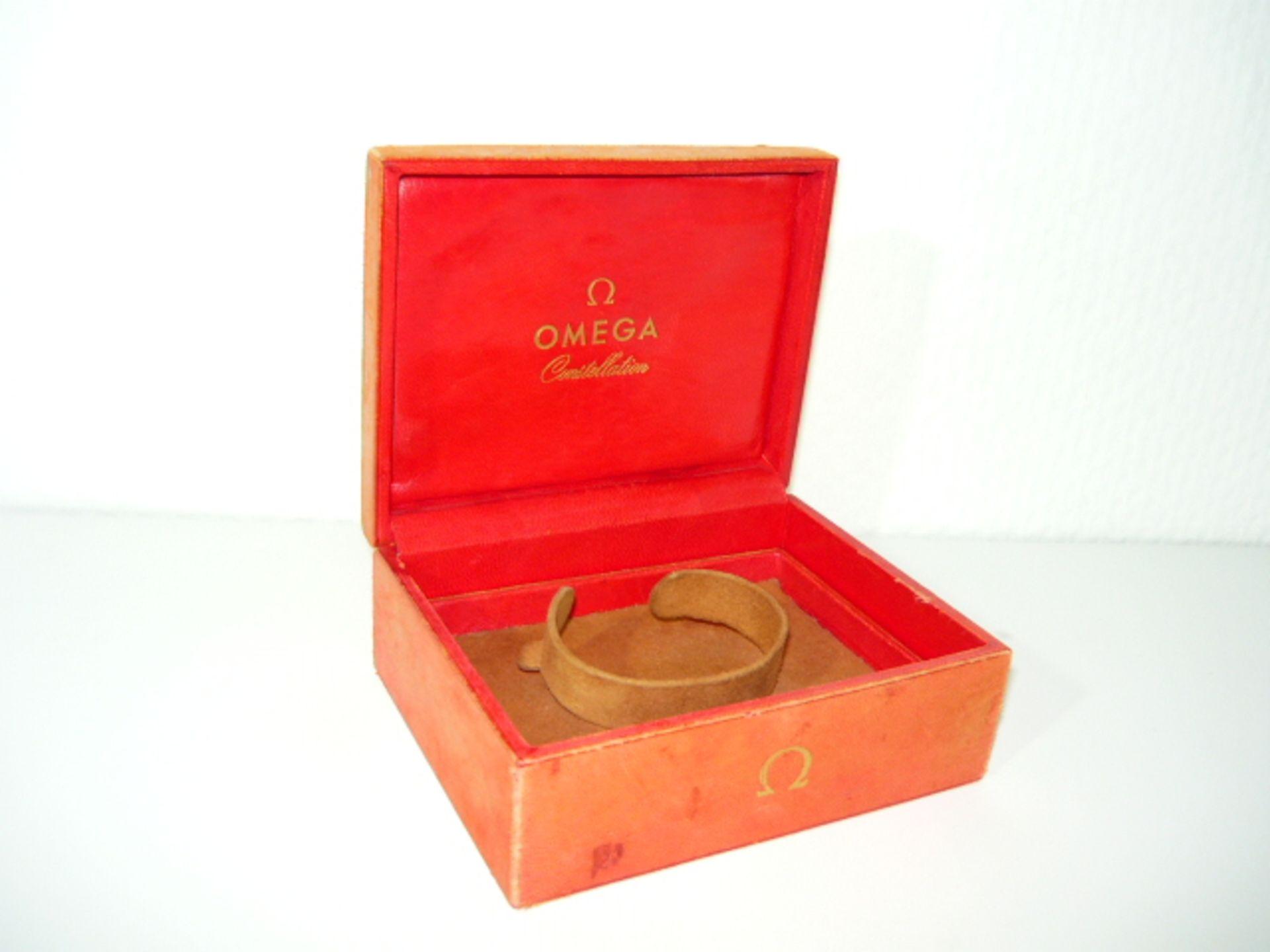 Omega Costellation. Uhrenbox Vintage. Maß ca. 5x10x13cm. Altersspuren. KOSTENLOSER VERSAND INNERHALB