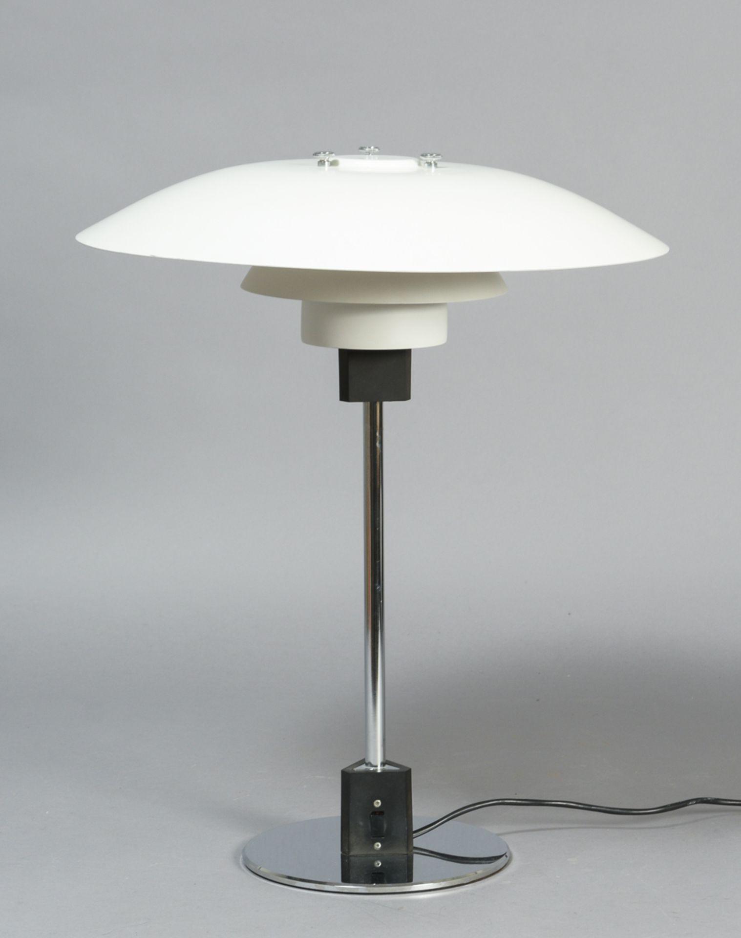 Poul Henningsen (1894-1967) für Louis Poulsen, PH 4/3 Tischlampe, H. 53cm, Ø 45 cm. Altersspuren,