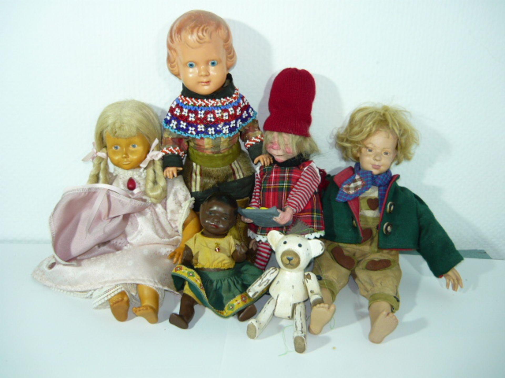 Konvolut Puppen, u.a. Heubach-Köppelsdorf