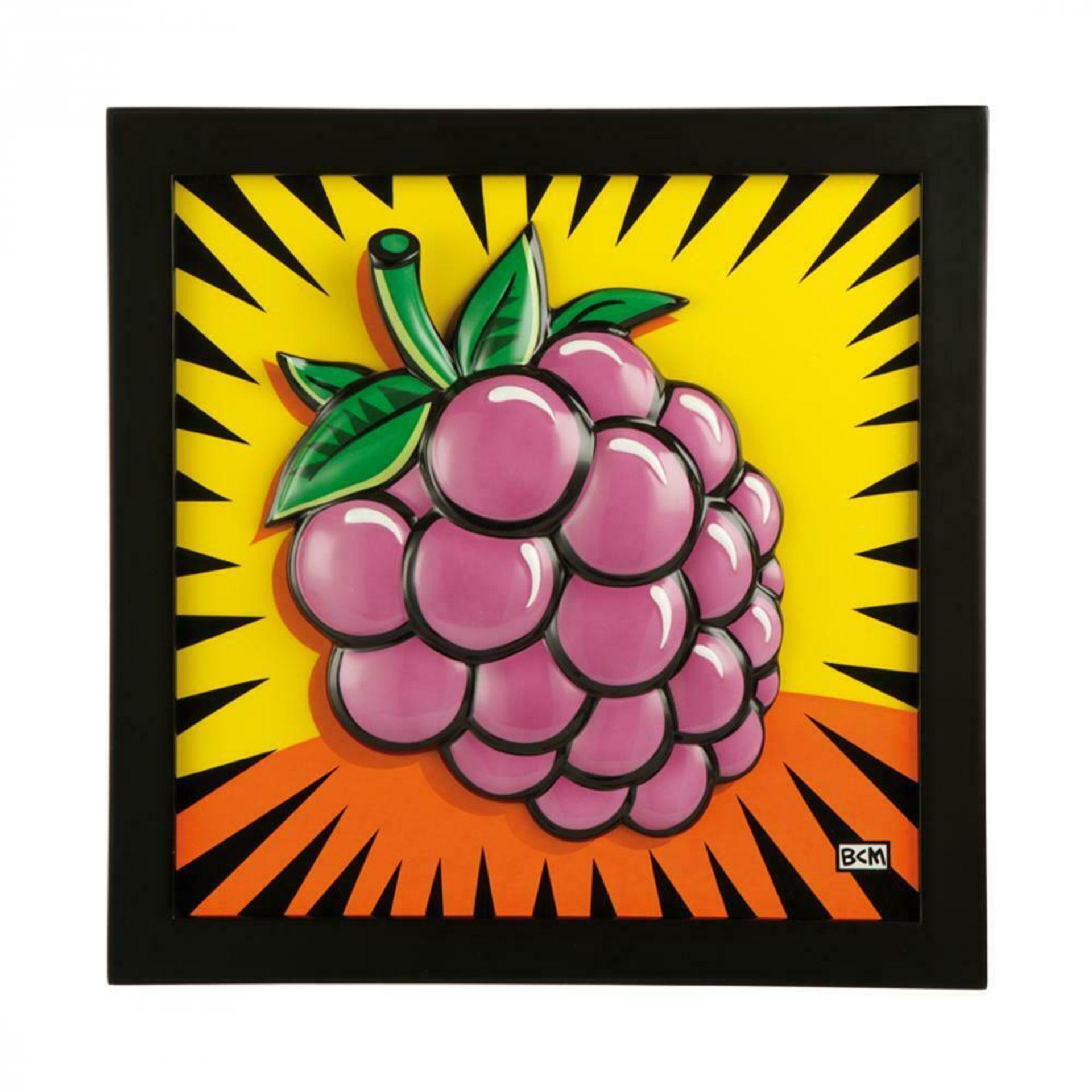 Burton Morris (*1964, Pittsburgh), US-Amerikanischer Künstler der POP-Art. Porzellanbildplatte mit
