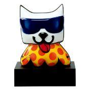 Romero Britto für Artis Orbis. Katze (Porzellan) auf Sockel. H. ca. 20cm. In OVP. .
