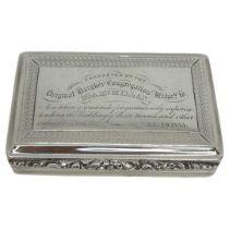 Nathaniel Mills Silver Snuff Box. 103 g. Nathaniel Mills, Birmingham 1834