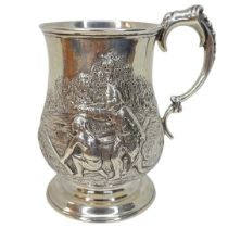 Victorian Silver Hunting Tankard. 169 g. Robert Harper, London 1871